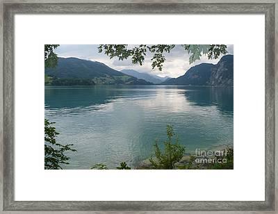 Austrian Lake Framed Print by Carol Groenen