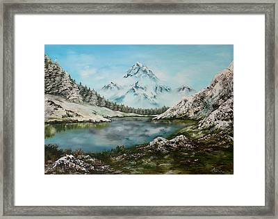 Framed Print featuring the painting Austrian Lake by Jean Walker