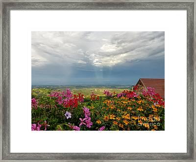 Austrian Landscape Framed Print by Kasia Bitner