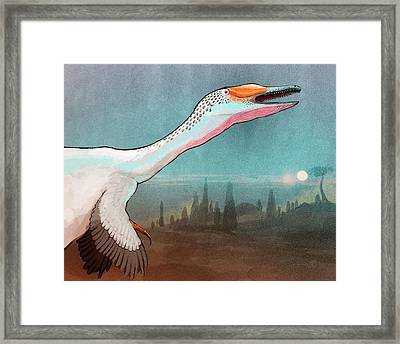 Austroraptor Dinosaur Framed Print by Nemo Ramjet