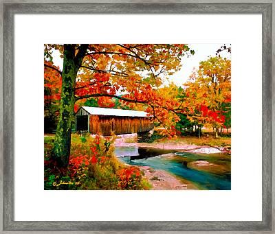 Authentic Covered Bridge Vt Framed Print