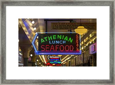 Authentic Lunch Seafood Framed Print