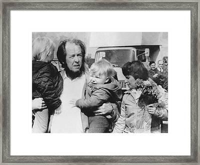 Author Alexander Solzhenitsyn Framed Print