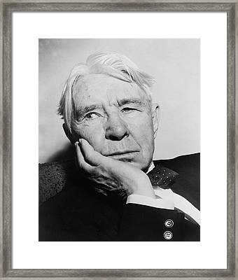 Author Carl Sandburg Framed Print by Al Ravenna