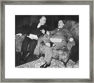Author H.g. Wells Framed Print by Underwood Archives