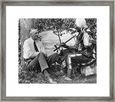 Author James Willard Schultz Framed Print by Underwood Archives