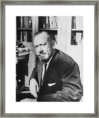 Author John Steinbeck Framed Print by Underwood Archives