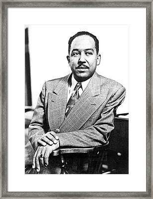 Author Langston Hughes Framed Print by Underwood Archives