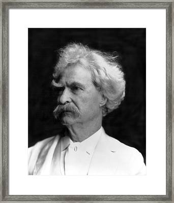 Author Mark Twain Framed Print by Underwood Archives