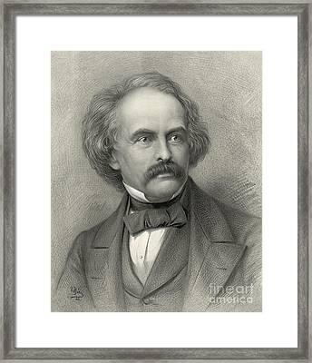 Author Nathaniel Hawthorne 1883 Framed Print by Padre Art