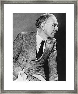 Author Upton Sinclair Framed Print by Underwood Archives