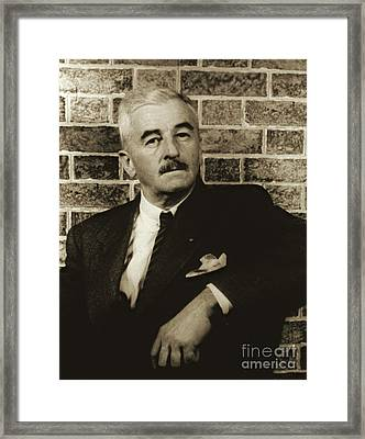 Author William Faulkner 1954 Framed Print by Padre Art