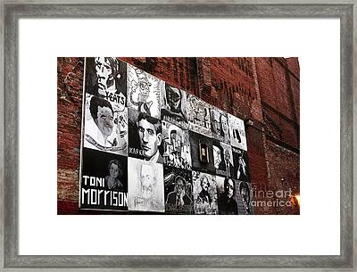 Authors In Boston Framed Print by John Rizzuto