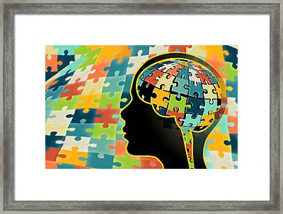 Autism, Genetics Research Framed Print