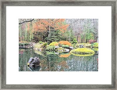 Autumn Lakeside Framed Print