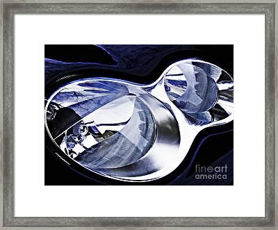 Auto Headlight 105 Framed Print by Sarah Loft