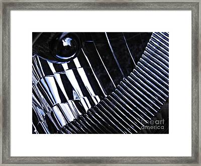 Auto Headlight 129 Framed Print by Sarah Loft
