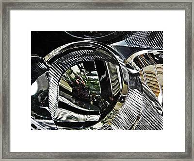 Auto Headlight 133 Framed Print by Sarah Loft