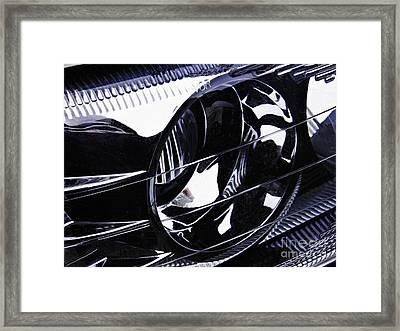 Auto Headlight 155 Framed Print by Sarah Loft