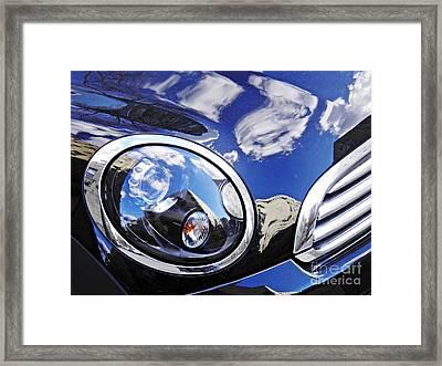 Auto Headlight 158 Framed Print by Sarah Loft
