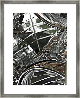 Auto Headlight 8 Framed Print by Sarah Loft