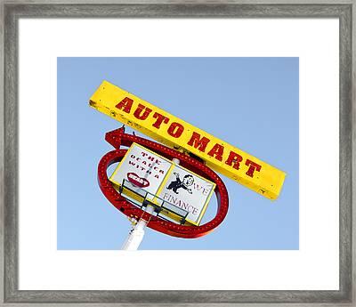 Auto Mart Framed Print