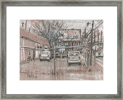 Auto Repair Framed Print by Donald Maier