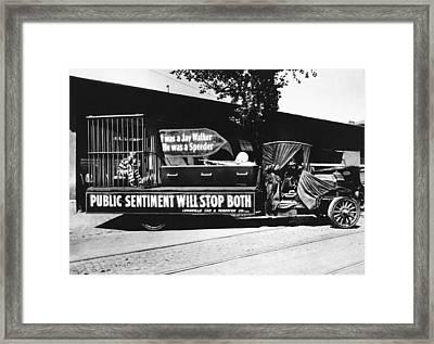 Auto Safety Parade Framed Print