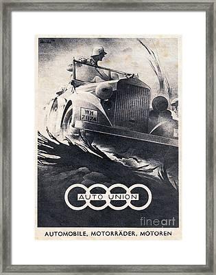 Auto Union Framed Print