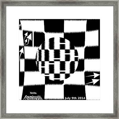 Autofocus Maze Framed Print