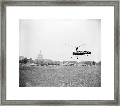 Autogyro Mail Shuttle Framed Print by Library Of Congress