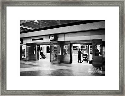 automated guideway transit system at Denver International Airport Colorado USA Framed Print by Joe Fox