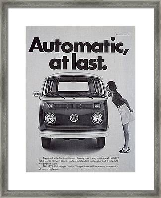 Automatic At Last Framed Print