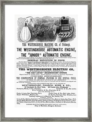 Automatic Engine, 1886 Framed Print by Granger