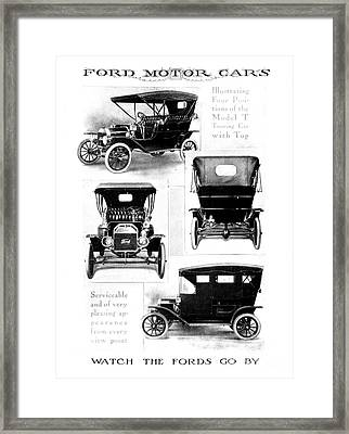 Automobile Advertisement Framed Print by Granger