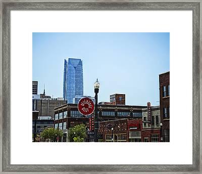 Automobile Alley Skyline Framed Print by David Waldo