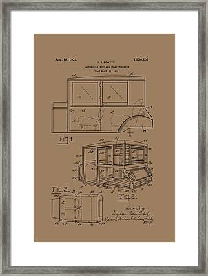 Automobile Body And Frame Patent 1925 Framed Print by Mountain Dreams