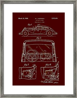 Automobile Body Patent 1938 Framed Print by Mountain Dreams
