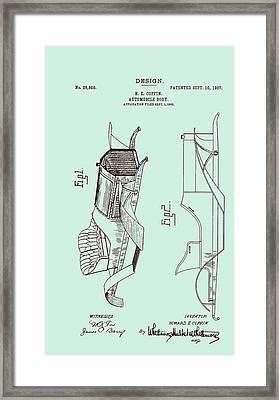Automobile Patent 1907 Framed Print by Mountain Dreams