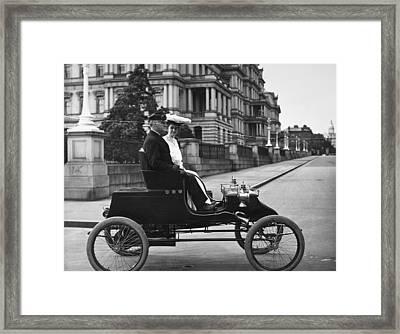 Automobile Stanley Steamer Framed Print by Granger