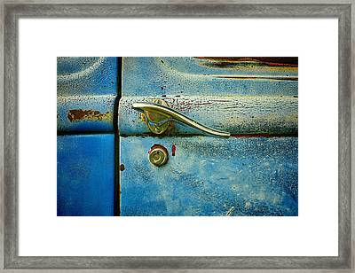 automobiles- cars - Blue and Rust  Framed Print