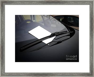 Automotive Ad Framed Print by Sinisa Botas
