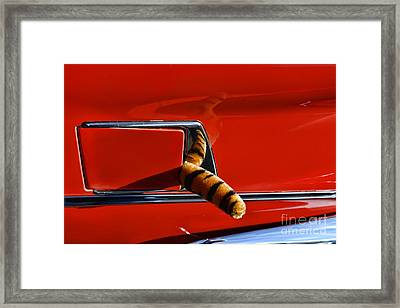Automotive - Put A Tiger In Your Tank Framed Print by Paul Ward
