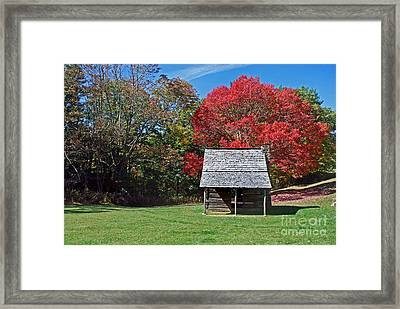 Autum For A Mountain Home Framed Print by Skip Willits