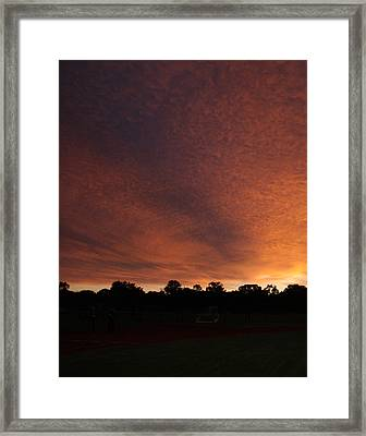Autum Sunset Framed Print