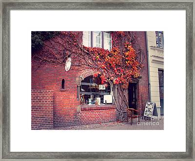 Framed Print featuring the photograph Autumal Facade With Ivy Autumn by Art Photography