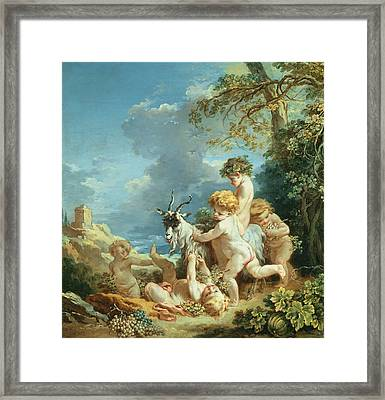Autumn, 1731 Oil On Canvas Framed Print