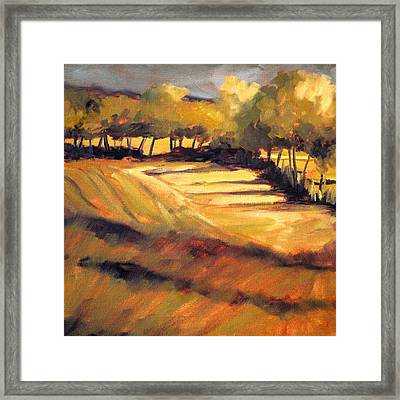 Autumn Abstract Framed Print by Nancy Merkle