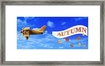 Autumn Advertising Banner Framed Print