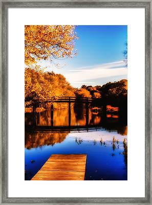 Autumn Afternoon Wears On Framed Print by Jeff Folger